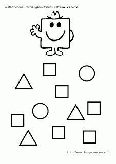 Monsieur bonhomme carré: maths, formes géométriques moyenne section
