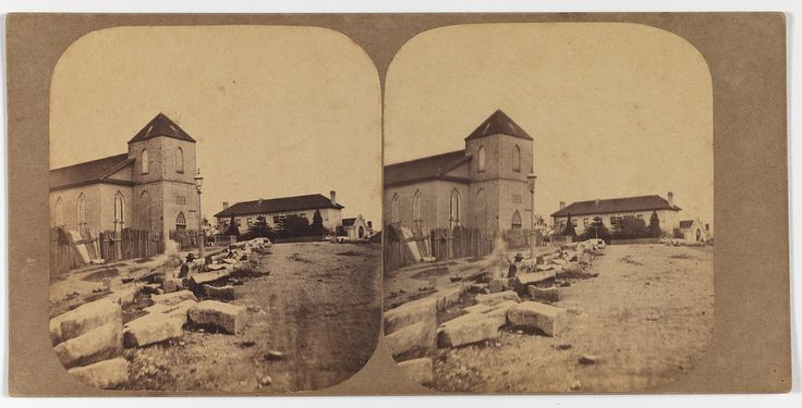 Scots Church Sydney [1859] [Looking west along Jamieson Street, past Scots Church to Petty's Family Hotel] | by State Library of New South Wales collection