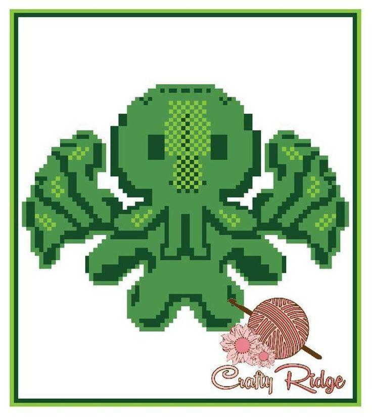 Cthulhu Graph Pattern by Crafty Ridge on Craftsy #craftyridge #crochet #crochetgraphs #cthulhu