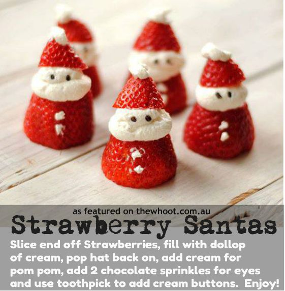 strawberry santas - perfect easy dessert for me to make :)