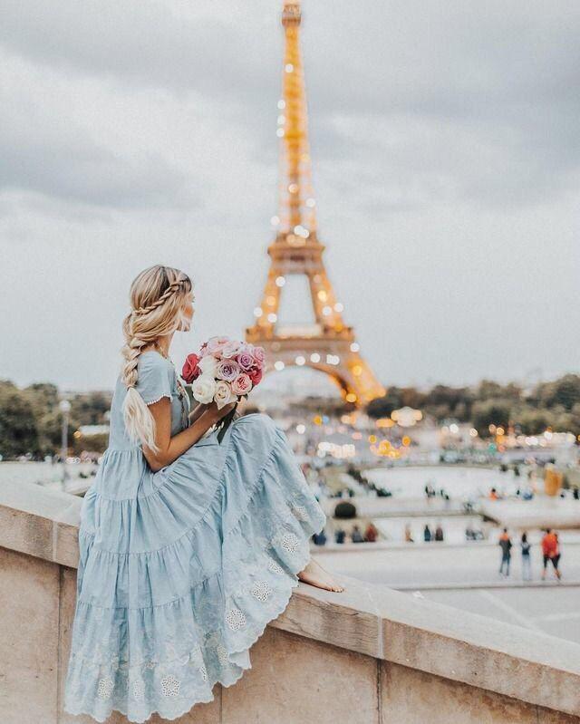 Картинка парижа и девушки