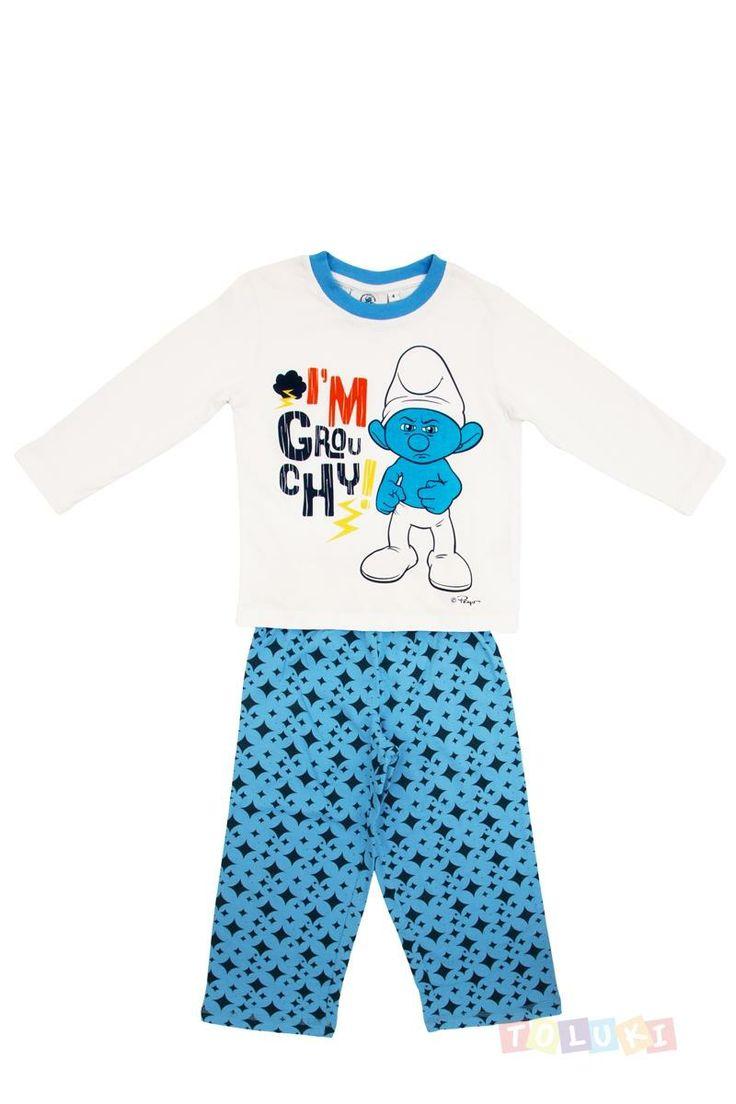 Pyjama Garçon Schtroumpf grognon https://twitter.com/Tolukicom #enfant #pyjama