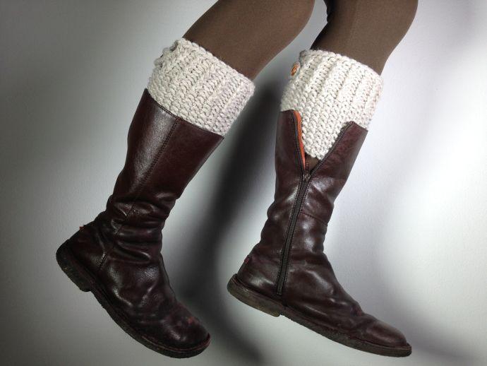 Tutorial para tejer calentadores para botas / boot cuffs en telar