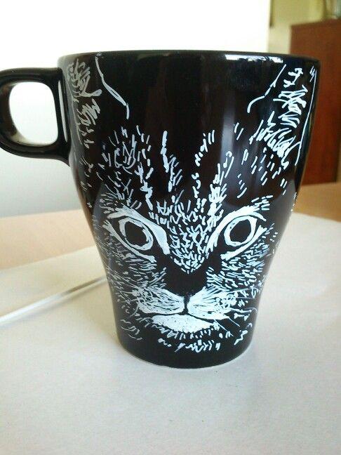 Cat cup sharpie