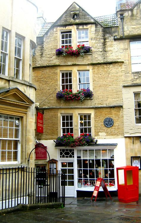 Bath, England - a lovely Regency and before that, Roman spa town. Definitely worth a visit or stay if you are in London.