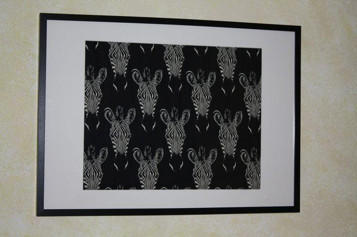 Black & White Zebra Safari 70cm x 50cm