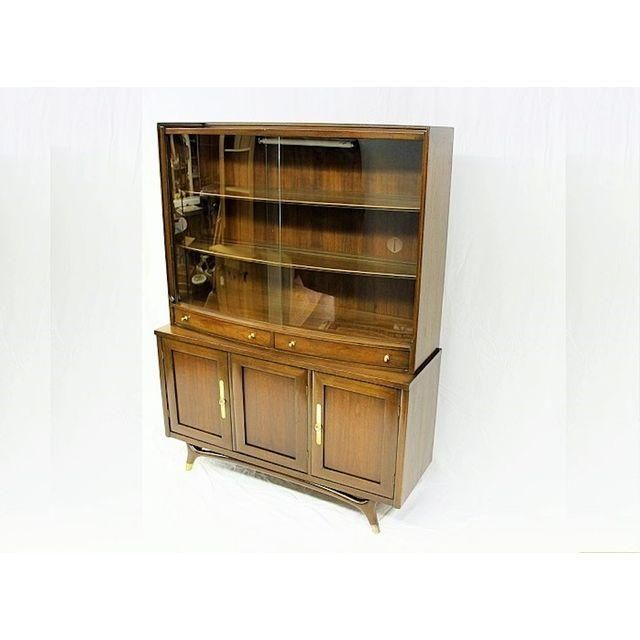 image of mid century modern china cabinet