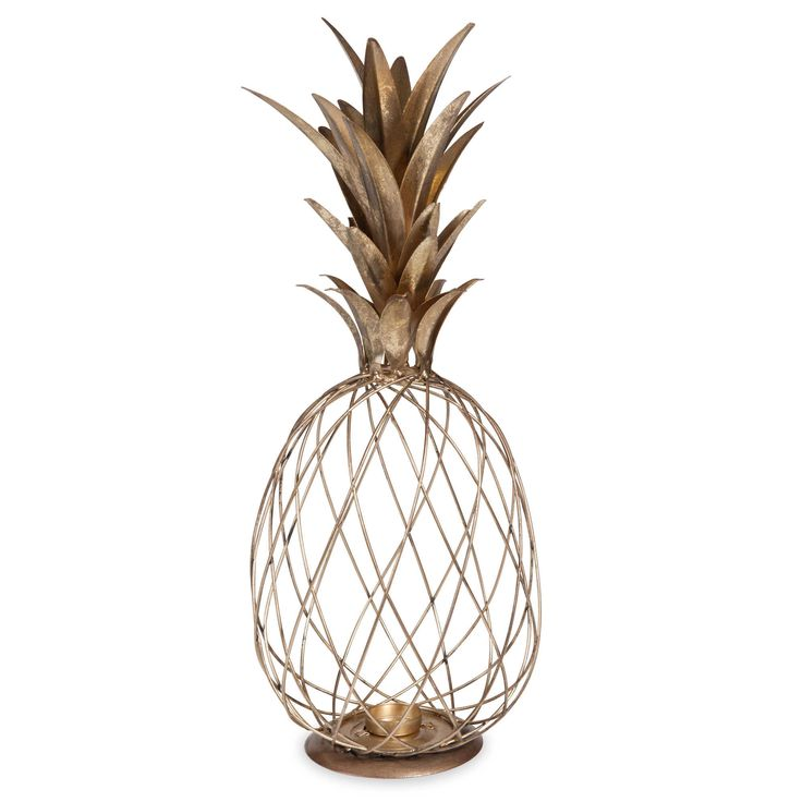 Lanterne en m tal dor ananas exotique pinterest for Petit objet de decoration