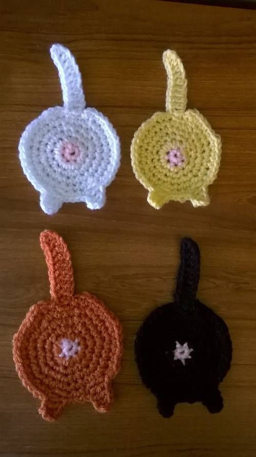 Not your granny's coasters-CAT BUTT COASTERS-with tutorial - CROCHET - Holiday crafts, Knitting, sewing, crochet, tutorials, children crafts, jewelry, needlework, swaps, papercrafts, cooking and so much more on Craftster.org