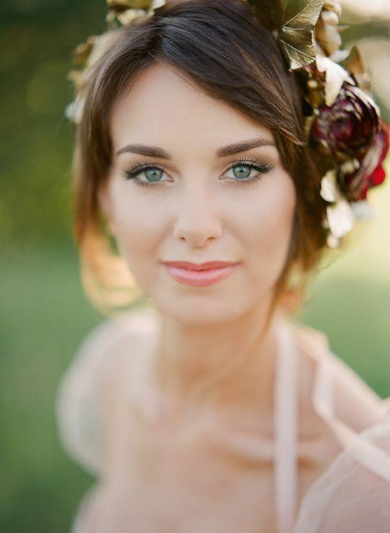 Mooie naturel bruidslook.