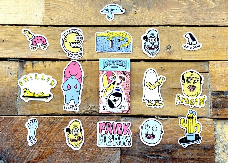 Rep your local seattle skate shop motion boardshop with a mobo sticker pack