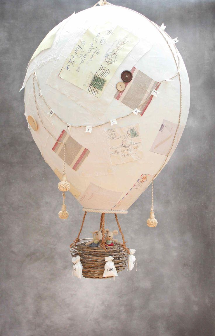 Paper Mache Hot Air Balloon                                                                                                                                                                                 More