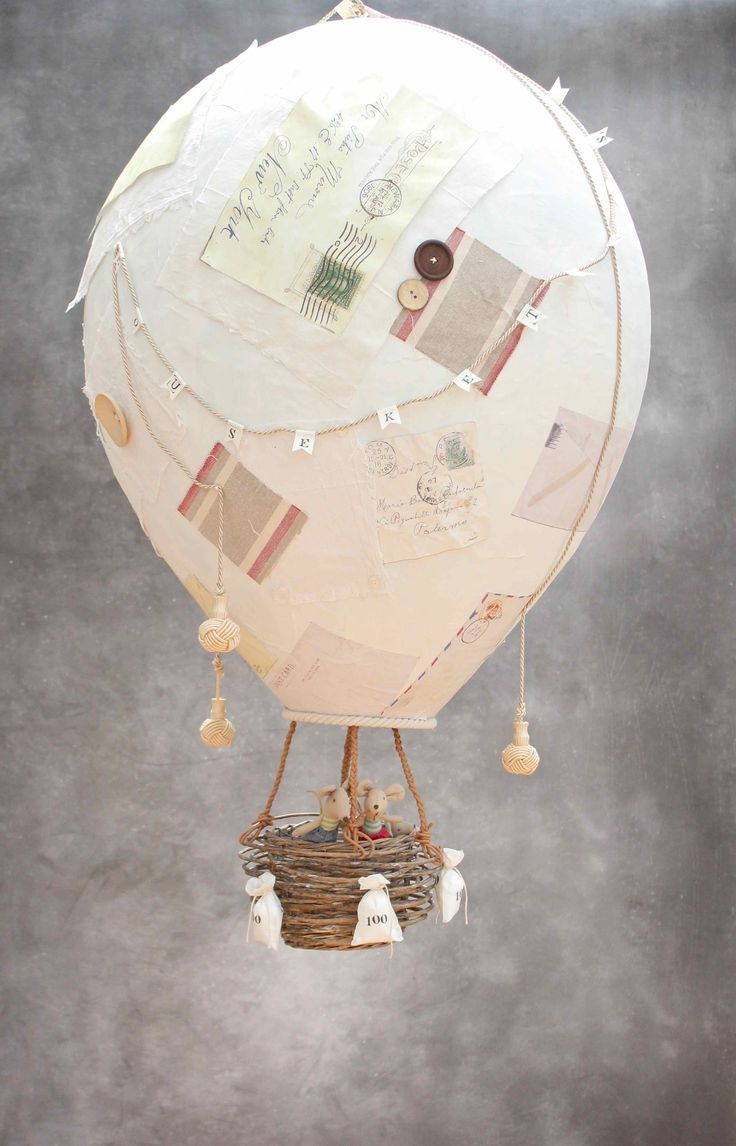 Paper Mache Hot Air Balloon                                                                                                                                                                                 More