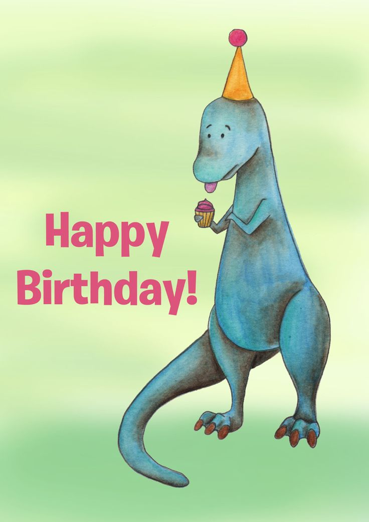 Dinosaur birthday card by nia ellis dinosaur birthday