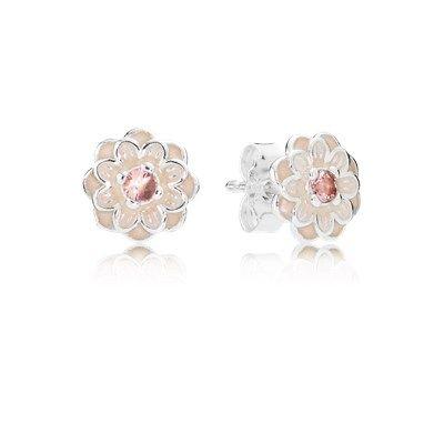 Blooming Dahlia, Cream Enamel & Blush Pink Crystals - 290687NBP