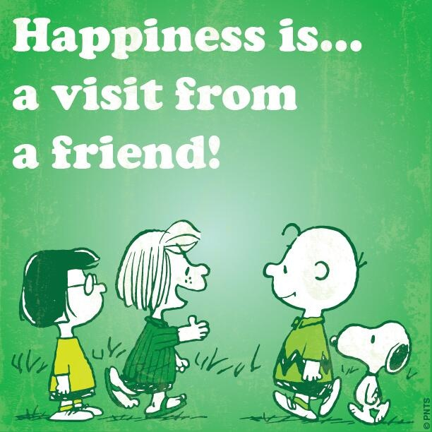 Happiness is a visit from a friend...!!! #Peanuts #Snoopy