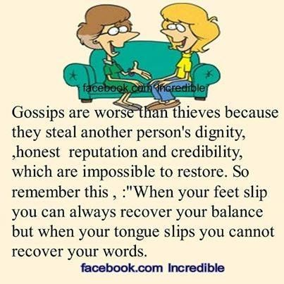 Ppl don't understand the tru definition of gossip/harassment. They don't understand how talking behind someone's back does get back to the person and hurts like HELL. When u confront them on it...ur the bad guy.