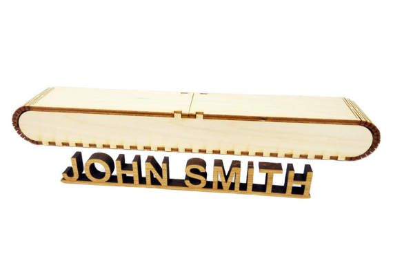 Custom name plaque made of 1/3 inch thick natural bamboo wood + original gift box. A great office gift for your family member, colleague or boss.   Made to order, different sizes available, you may choose custom font on demand.  PLEASE NOTE that the dimensions at the selection list is a width of the whole sign. Longer wording means smaller letters.  To complete the order we will ask you to send us a text that you would like to appear on your product. If you would like to change a font et...