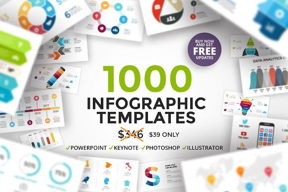 Infographics   FREE Updates by TheSeamuss on @creativemarket