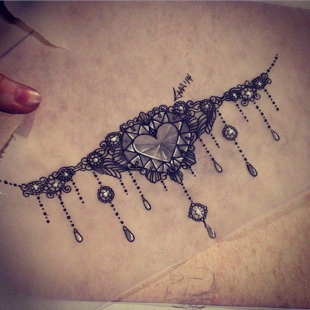 Upper stomach tattoo design I did today #tattoo #hearttattoo #stomachtattoo…