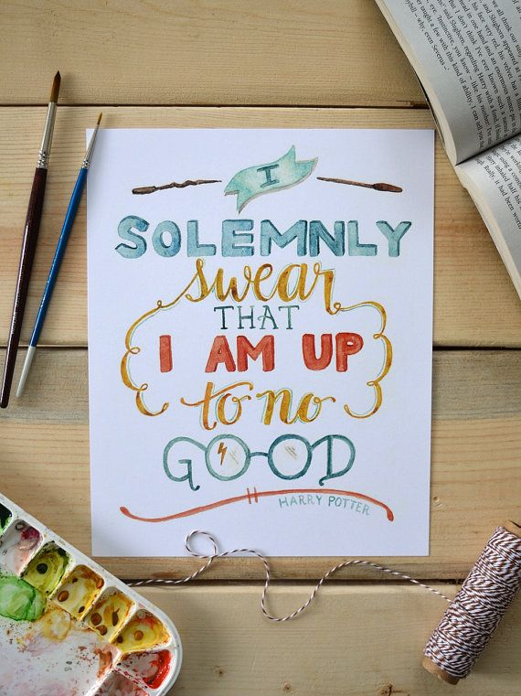 Harry Potter Art Print Harry Potter Quote by TheHoneyBeePaperie