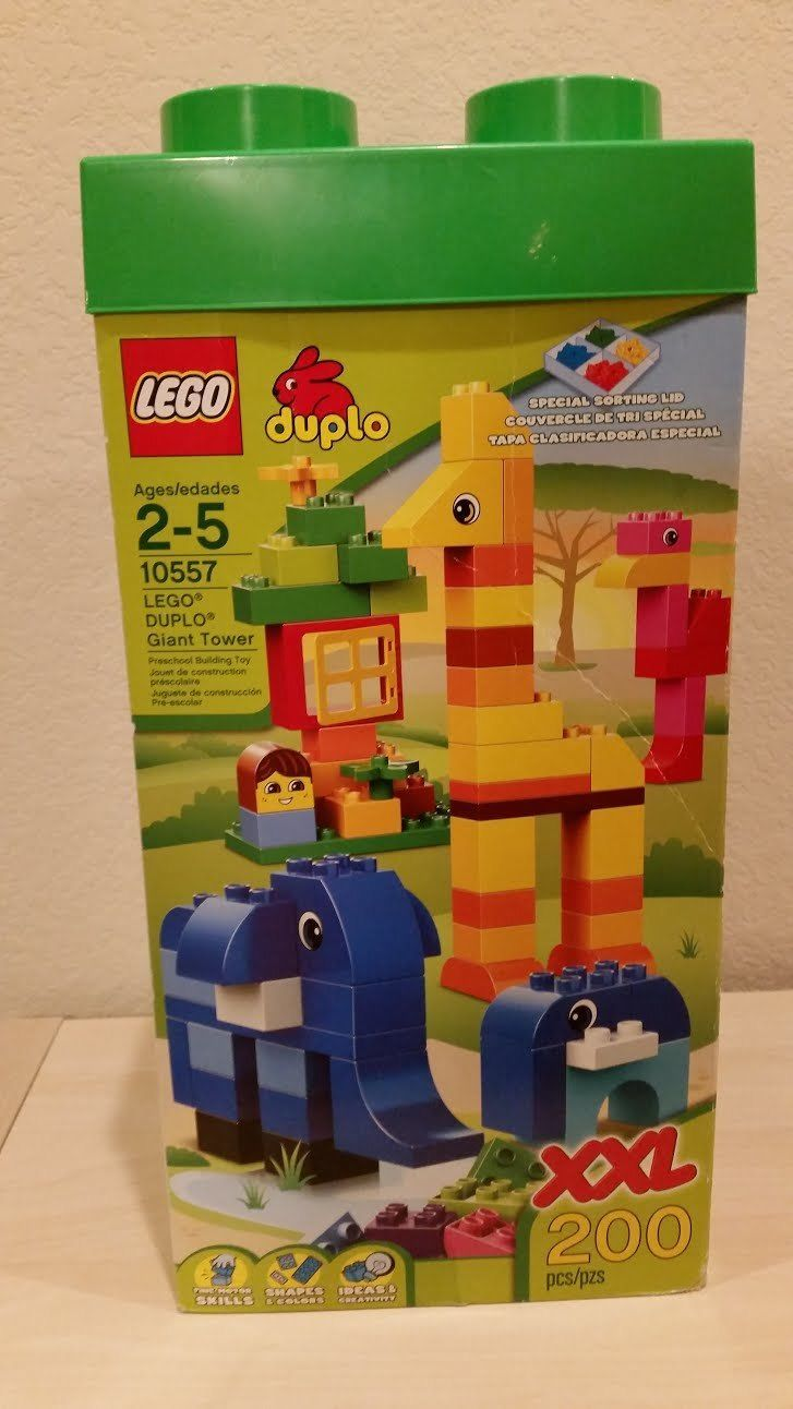 LEGO DUPLO 10557 Giant Tower XXL 200 Pieces with storage box