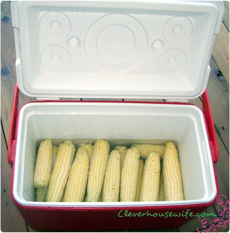 How to cook corn on the cob for large crowds: Cooler Corn! Perfect for Labor Day!