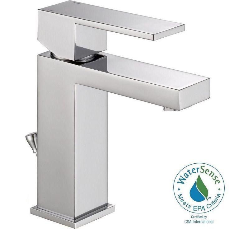 Delta Ara Single Hole Single-Handle Bathroom Faucet in Chrome-567LF-PP - The…