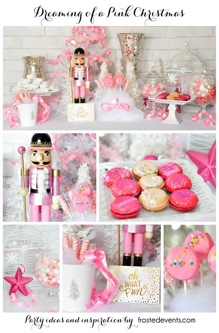 The Prettiest Pink Christmas Desserts Party Table Most Pinned Frostedevents Birthday