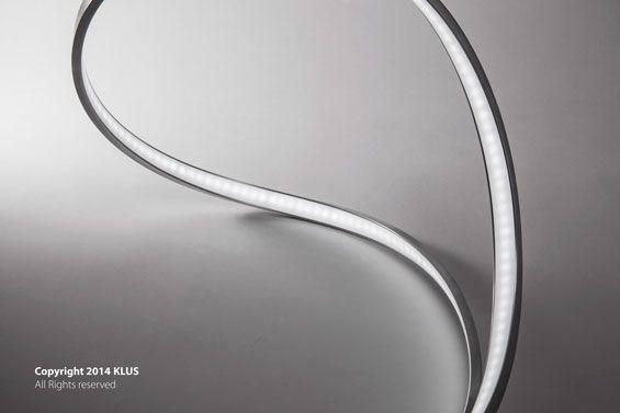 KLUS lighting concept of the bent MICRO profile