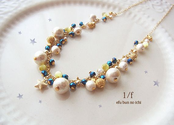 new*夜空と星のネックレス