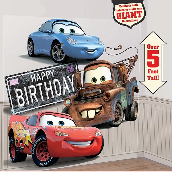 Cars Party Disney S Wall Car Decoration Caden S 2nd