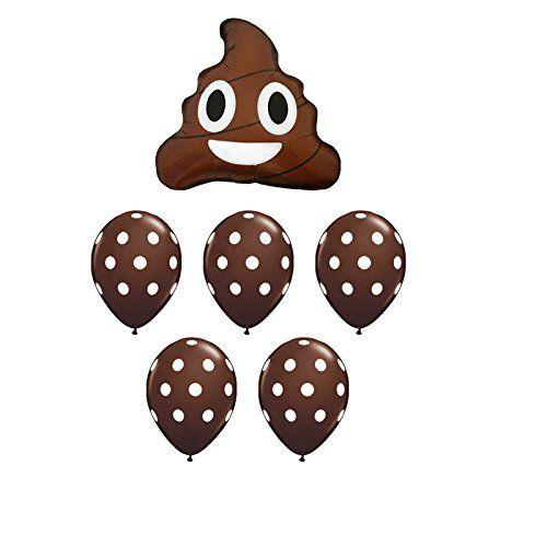Poop Emoji Birthday Party Balloon Bouquet
