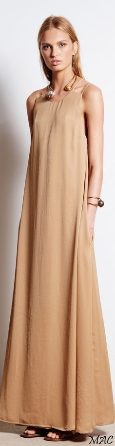 camel maxi dress @roressclothes closet ideas women fashion outfit clothing style apparel Resort 2016 Tomas Maier
