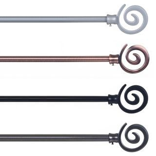 lavish home spiral finial modern curtain rod set free shipping on orders over 45