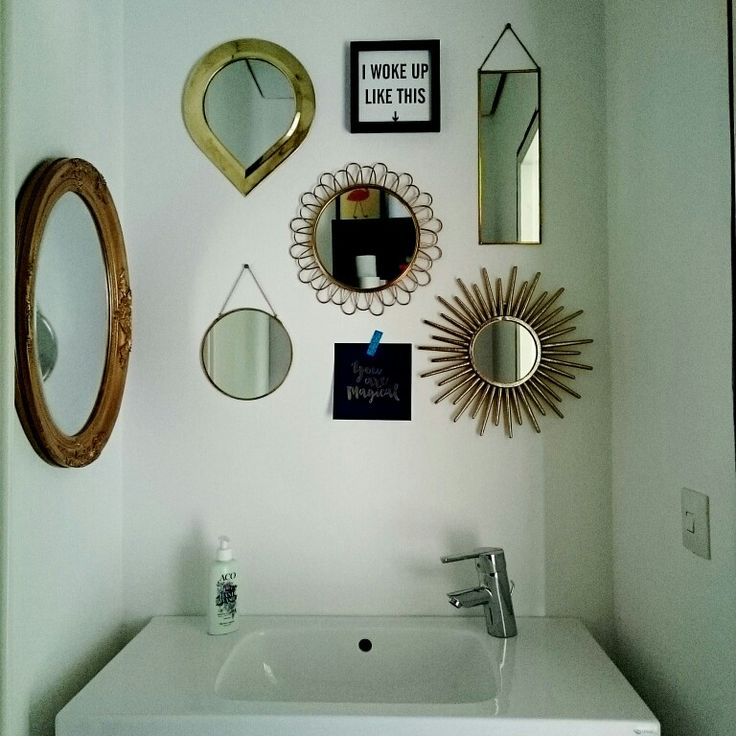 Spegelsamling på gästtoa