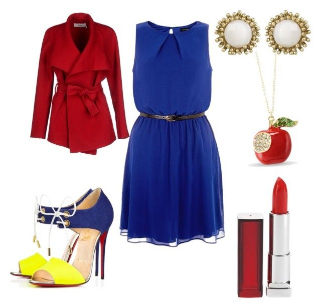 Snow White in the city by ellen-kate on Polyvore featuring polyvore, fashion, style, BGN, Christian Louboutin, Kendra Scott and Maybelline