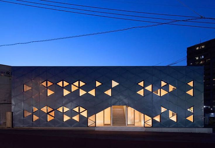 DABURA patterns commercial building full of triangles in japan - designboom | architecture