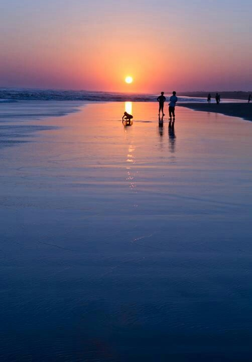 Beautiful sunset. .... Parangtritis Beach.... Yogyakarta.... Indonesia