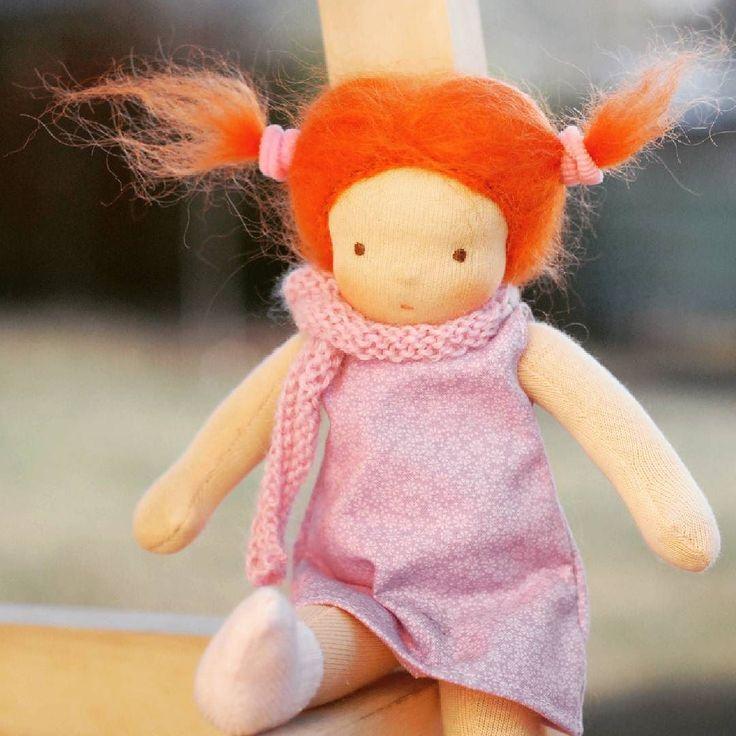 Sunny day. :) #waldorfdoll #waldorfmom #waldorfinspired #doll #dollsewing #instadoll #etsyseller #waldorfbaba #redhair #redhair #steinerdoll #vöröske