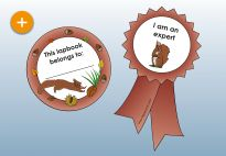 Ribbons for the Squirrel Lapbook for children. More lapbook resources available at www.kigaportal.com!