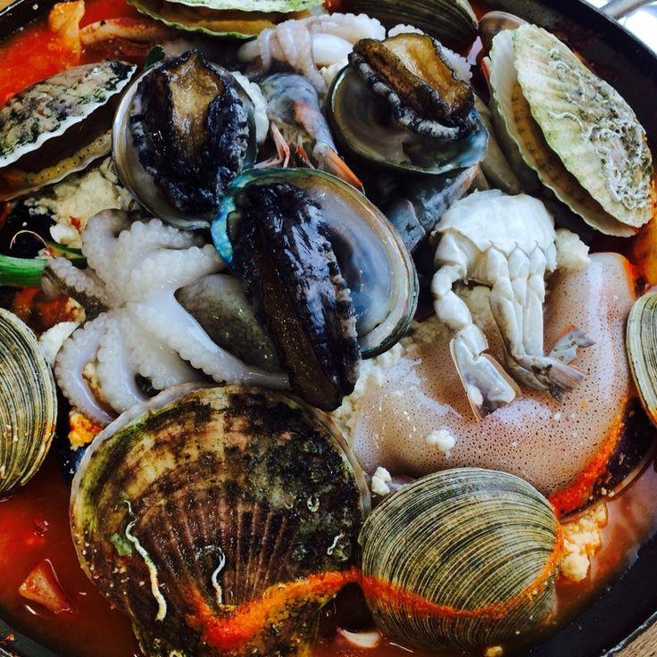 Seafood Soft Tofu Stew (Haemul Sundubu Jjigae) 해물짬뽕 순두부 #koreanfood #seafood #sokcho