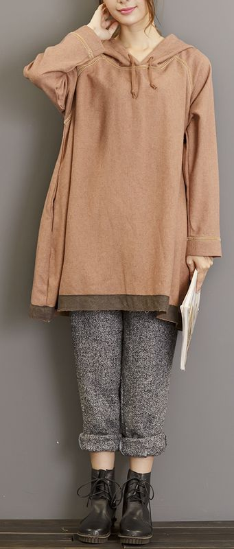 warm-new-khaki-gray-cotton-sport-pullover-plus-size-casual-hooded-t-shirt