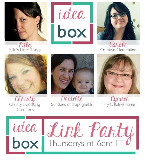 Idea Box-Thursday Link Party #14 | Mila's Little Things