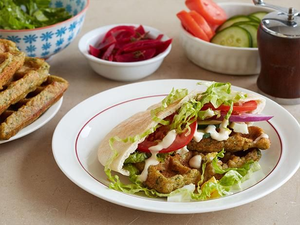 Get Food Network Kitchen's Waffled Falafel Recipe from Food Network
