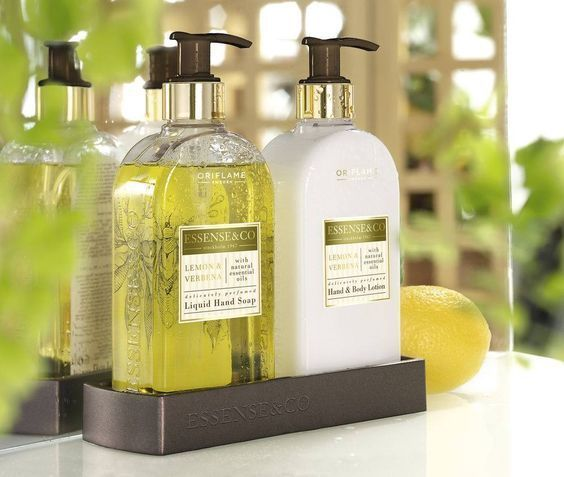 Oriflame Essense&Co. Lemon & Verbena Liquid Hand Soap,Hand Body Lotion GIFT SET