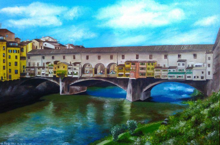 Veselova Nina, 2015 | Холст, масло, 40 х 60 см, без багета | Импрессионизм городской пейзаж мост Италия