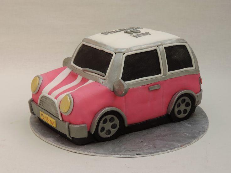 mini cooper taart 3D