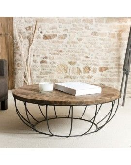 Table Basse Ronde Noire Double Plateau 100cm Tinesixe In 2019