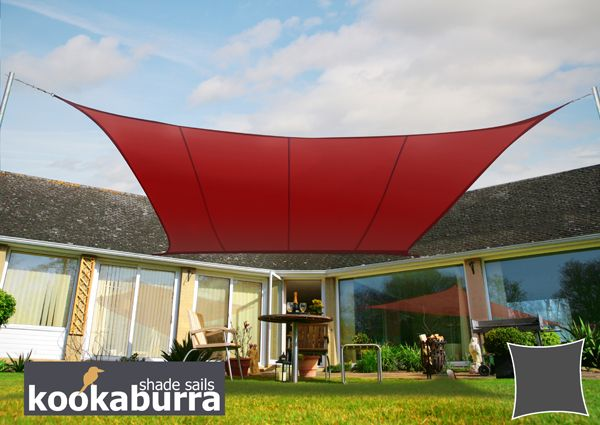 Kookaburra 17ft 9 Square Wine Waterproof Woven Shade Sail Shade Sail Sun Sail Shade Pergola On The Roof